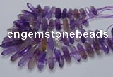 CNG3207 10*25mm - 12*45mm faceted nuggets ametrine beads