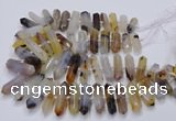 CNG3210 15.5 inches 10*25mm - 12*45mm faceted nuggets Montana agate beads