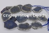 CNG3303 30*40mm - 45*55mm freeform druzy agate beads