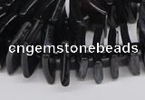 CNG3318 15.5 inches 8*12mm - 15*20mm freeform black agate beads