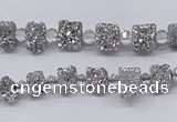 CNG3324 15.5 inches 4*6mm - 8*10mm nuggets plated druzy agate beads