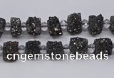 CNG3330 15.5 inches 4*6mm - 8*10mm nuggets plated druzy agate beads