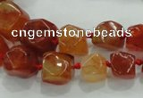 CNG334 15.5 inches 8*10mm - 13*15mm faceted nuggets agate beads