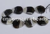CNG3344 15.5 inches 40*45mm - 45*50mm faceted freeform agate beads