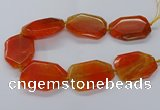 CNG3410 15.5 inches 38*50mm - 40*55mm faceted freeform agate beads