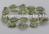 CNG3415 15.5 inches 18*25mm - 30*35mm freeform plated druzy agate beads