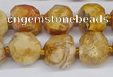 CNG3500 15.5 inches 12mm - 14mm faceted nuggets agate beads