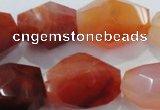 CNG391 15.5 inches 13*18mm – 18*24mm faceted nuggets agate beads