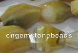 CNG396 15.5 inches 15*25mm – 22*30mm faceted nuggets agate beads