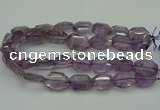 CNG5001 15.5 inches 18*25mm - 22*30mm faceted freeform amethyst beads