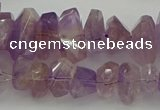 CNG5025 15.5 inches 6*10mm - 10*18mm faceted nuggets ametrine beads