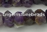 CNG5052 13*18mm - 15*20mm faceted nuggets dogtooth amethyst beads