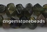 CNG5097 15.5 inches 10*14mm - 12*16mm faceted nuggets fluorite beads