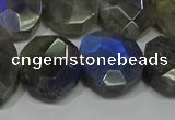 CNG5144 15.5 inches 15*18mm - 15*20mm faceted freeform labradorite beads
