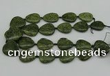 CNG5166 15.5 inches 16*22mm - 30*35mm freeform green lace gemstone beads