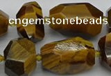 CNG5238 13*18mm - 18*30mm faceted nuggets yellow tiger eye beads