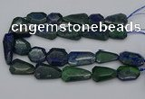 CNG5257 15.5 inches 20*25mm - 25*40mm faceted freeform chrysocolla beads