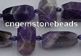CNG5306 15.5 inches 12*16mm - 15*20mm faceted nuggets amethyst beads