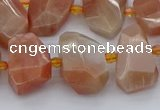 CNG5386 15.5 inches 12*16mm - 18*25mm faceted nuggets moonstone beads