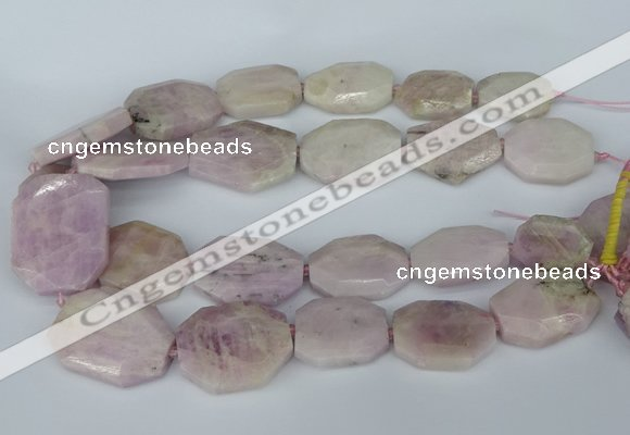 CNG5448 15.5 inches 20*30mm - 35*45mm faceted freeform kunzite beads