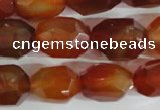 CNG561 15.5 inches 14*20mm faceted nuggets red agate beads