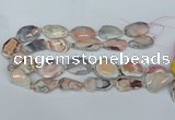 CNG5676 18*25mm - 30*35mm faceted freeform pink botswana agate beads