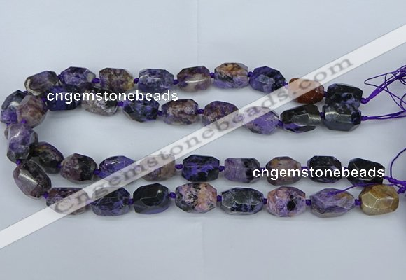 CNG5685 15.5 inche 12*16mm - 15*20mm faceted nuggets charoite beads