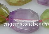 CNG5688 20*30mm - 35*45mm faceted freeform mixed quartz beads
