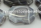 CNG5689 20*30mm - 35*45mm faceted freeform botswana agate beads