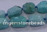 CNG5729 12*16mm - 13*18mm faceted nuggets amazonite beads