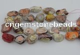 CNG5733 18*25mm - 22*35mm nuggets pink botswana agate beads