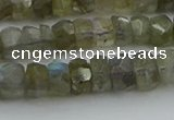 CNG5751 15.5 inches 5*7mm faceted nuggets labradorite beads