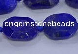 CNG5817 15.5 inches 10*14mm - 12*16mm faceted freeform lapis lazuli beads