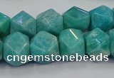 CNG5841 15.5 inches 10*12mm - 12*14mm faceted nuggets amazonite beads