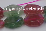 CNG5857 15*20mm - 20*25mm faceted freeform mixed strawberry quartz beads