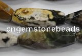 CNG586 15.5 inches 14*33mm faceted nuggets ocean agate beads