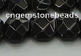 CNG5864 15.5 inches 8*12mm - 12*16mm faceted freeform black agate beads
