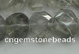 CNG5870 15.5 inches 8*12mm - 12*16mm faceted freeform cloudy quartz beads