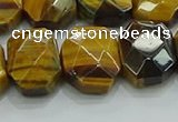 CNG5875 8*12mm - 12*16mm faceted freeform yellow tiger eye beads