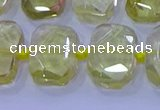 CNG5882 15.5 inches 10*14mm - 12*16mm faceted freeform lemon quartz beads