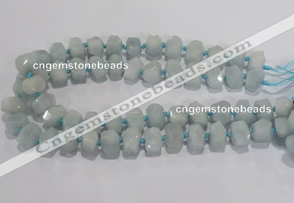 CNG6010 15.5 inches 10*14mm - 12*16mm faceted nuggets white jade beads