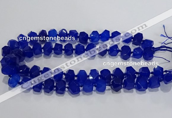 CNG6016 15.5 inches 10*14mm - 12*16mm faceted nuggets white jade beads