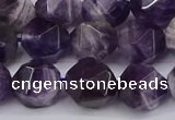 CNG6028 15.5 inches 12mm faceted nuggets dogtooth amethyst beads