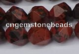 CNG6183 15.5 inches 10mm faceted nuggets mahogany obsidian beads