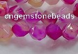 CNG6521 15.5 inches 8mm faceted nuggets line agate beads