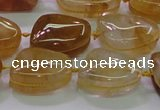 CNG692 15.5 inches 13*18mm - 15*16mm freeform yellow quartz beads