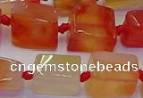 CNG6933 15.5 inches 8*12mm - 10*16mm nuggets red agate beads