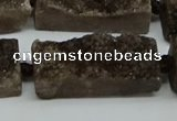 CNG7020 15.5 inches 10*28mm - 12*30mm freeform druzy agate beads