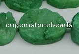 CNG7026 15.5 inches 20*28mm - 25*35mm freeform druzy agate beads