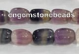 CNG707 15.5 inches 10*14mm nuggets fluorite beads wholesale